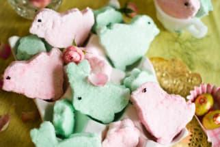 Homemade marshmallow bunny chick peeps