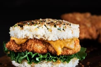 Chicken Katsu Rice Burger