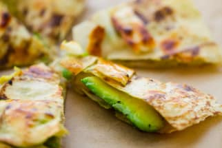 avocado quesadilla vegan recipe
