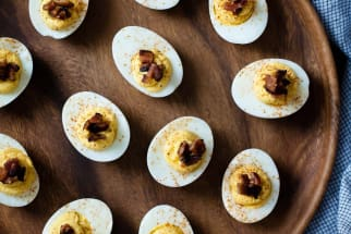 Butternut Squash and Bacon Deviled Eggs