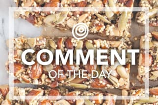 Homemade granola bars - Comment of the Day