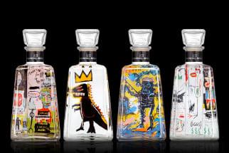 Artist collaboration tequila bottles