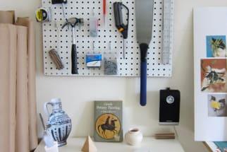 organized pegboard tools DIY workshop