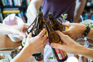 An All-American Beer Bottling Party