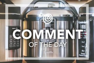 3 pressure cookers and the comment of the day