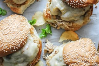 Slow-Cooker Ranch Chicken Sandwiches
