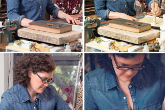 Back to Blue: At Home With a Bookbinder