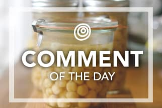 Jar of chickpeas - Comment of the Day