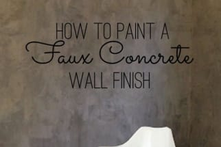 Room with Faux Concrete Wall Paint Finish