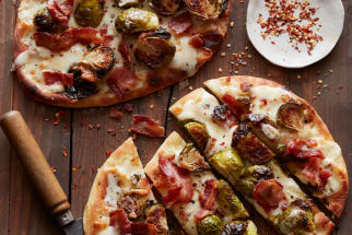 Bacon and Brussels Sprout Flatbread