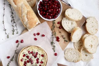 Pomegranate & Thyme Baked Camembert