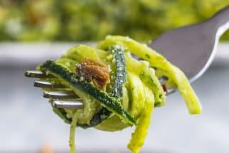 Zucchini Noodle Salad with Pesto