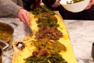 An Italian Polenta Supper Dinner Party