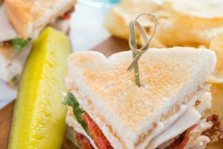 Roasted Tomato Turkey Club Sandwich