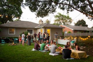 A Backyard S'mores Party