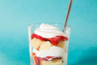 Rosé-Soaked Strawberry Shortcake