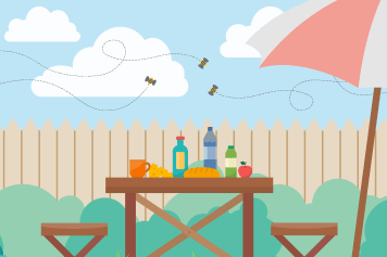 5 Ways To Keep Bees Away From Your Patio Picnic