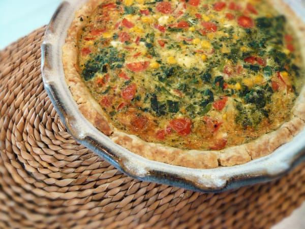 Another Ten Minute, Ten Dollar Dinner: Pat in the Pan Crust Quiche