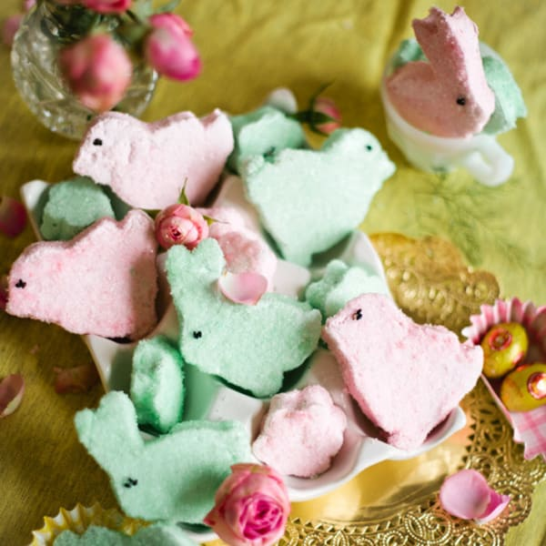 Homemade marshmallow bunny chick peeps