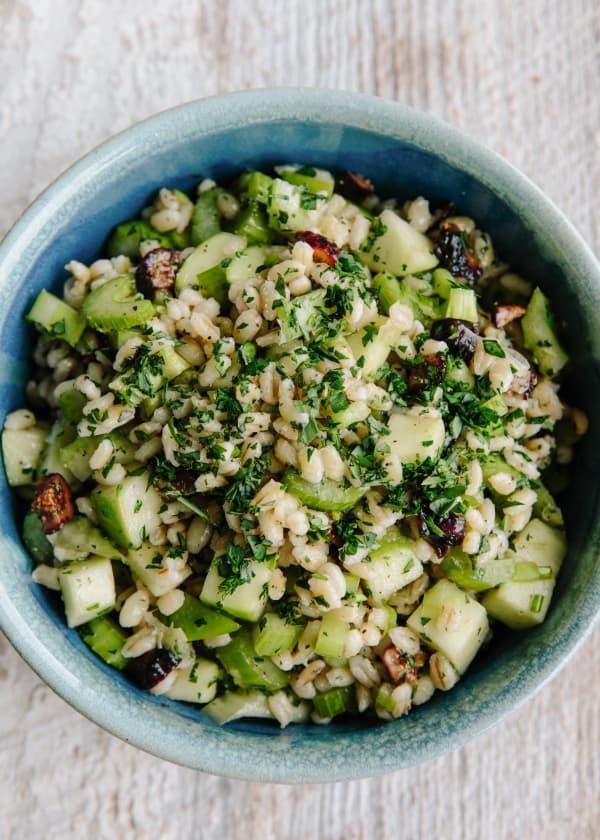 Barley Salad with Figs and Tarragon-Lemon Dressing