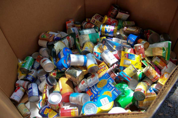 Canned food for food bank