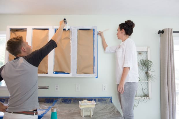 Painted Kitchen Cabinets Hold Up Home