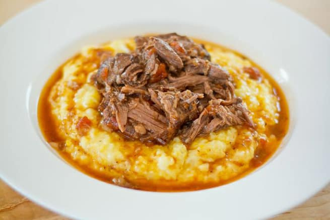 Dinner Party Recipe: Braised Shredded Beef in Tomatoes & Red Wine