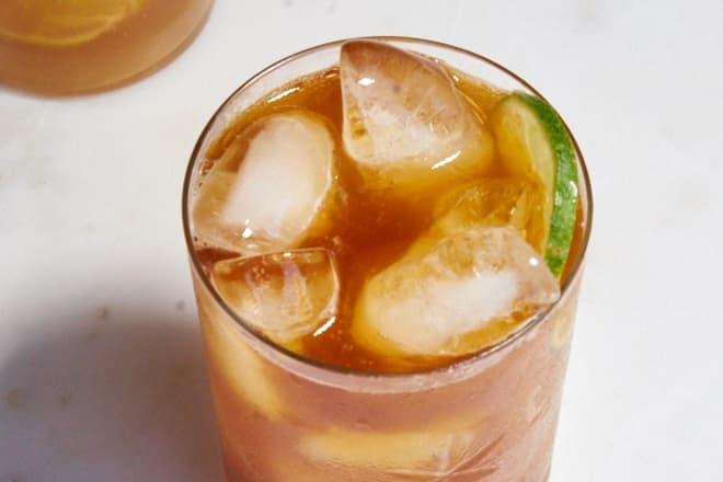 Kombucha and Rum Cocktail