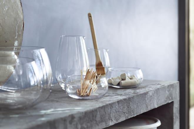 VIKTIGT Clear Glass Bowls, Set of 2