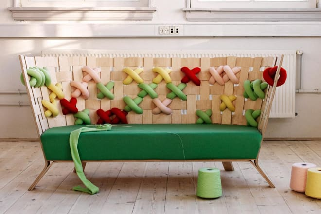 giant cross stitch sofa