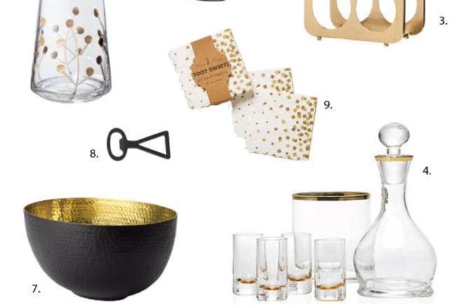 Black Gold Entertaining Tabletop Accessories