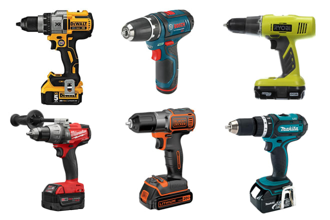 Group of cordless drills