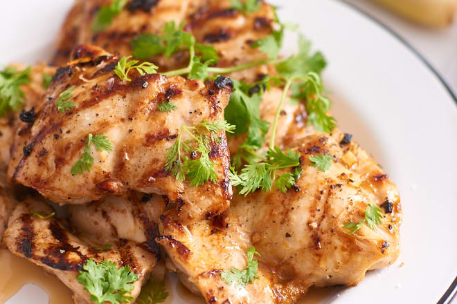 Lemongrass Grilled Chicken - beauty - whole, with lemongrass