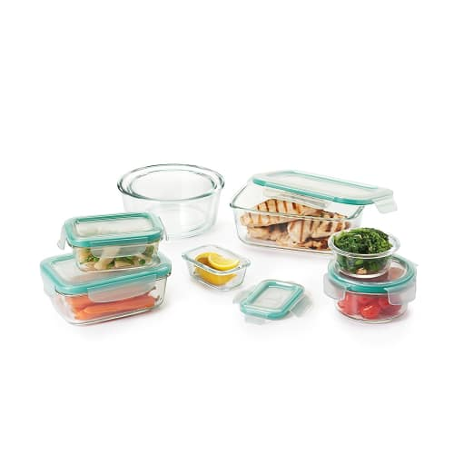 OXO Good Grips 16-Piece Smart Seal Leakproof Glass Food Storage Container Set
