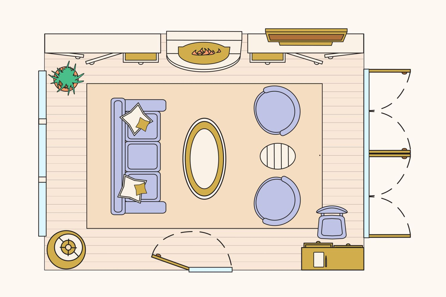 Living Room Furniture Layouts: 10 Ways To Lay Out A Living Room: Sample Floorplans