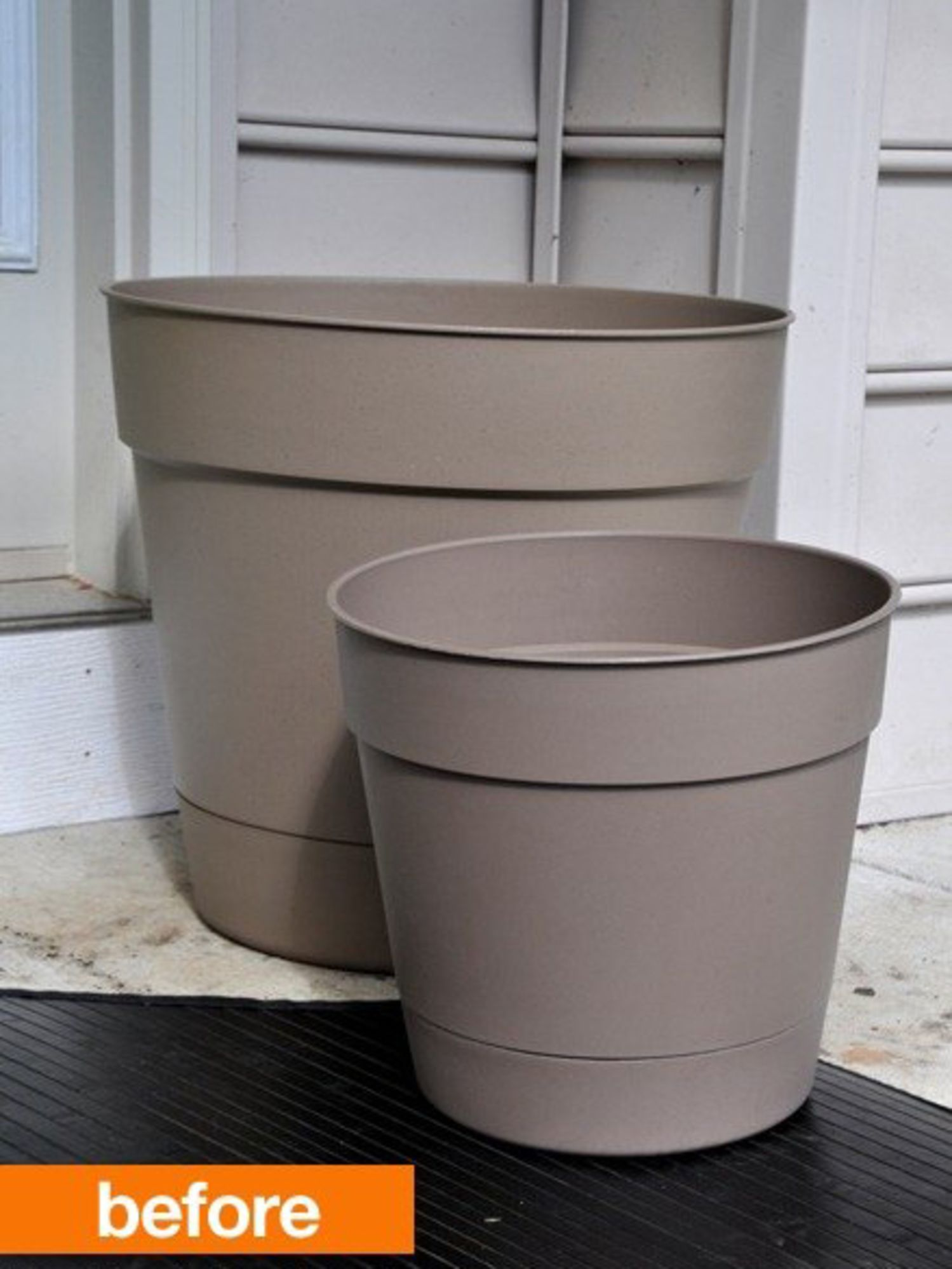 Before & After: DIY Color-Block Planters