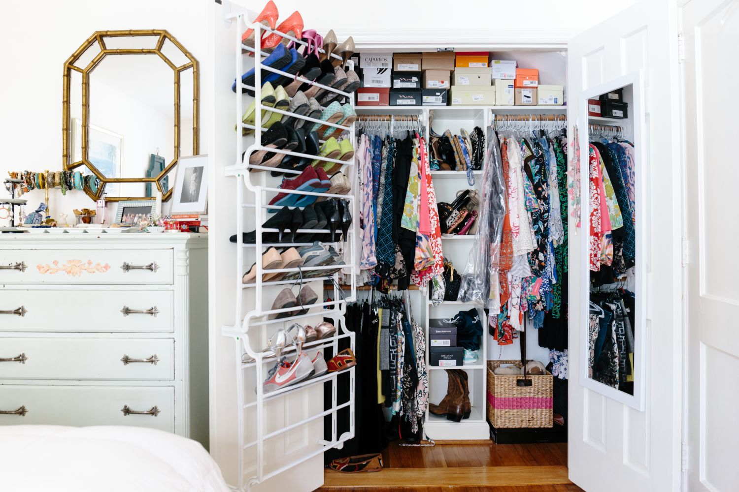 Your organized gameplan for successfully sharing a closet - Small closet storage ideas ...