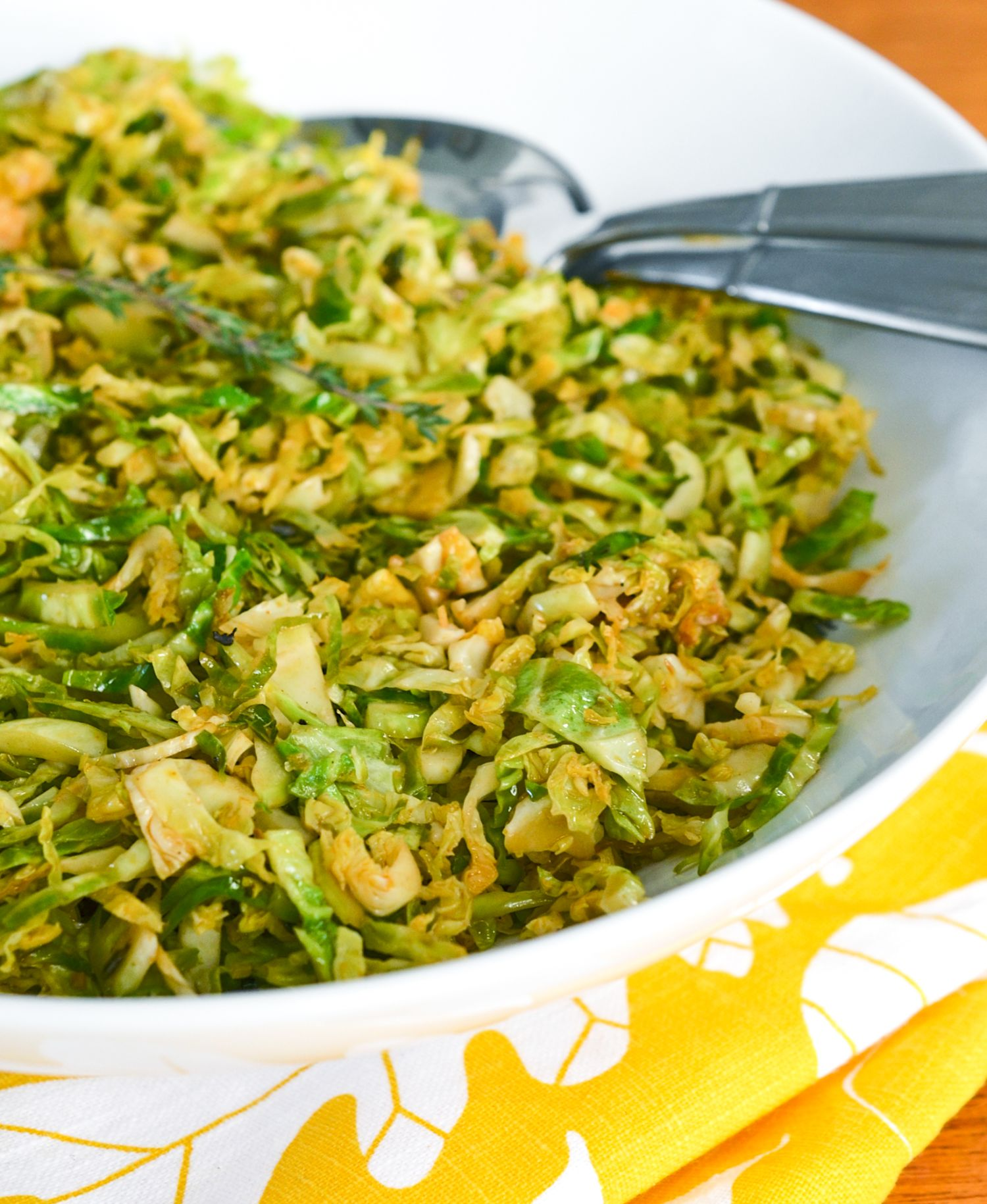 how to cook shredded brussel sprouts