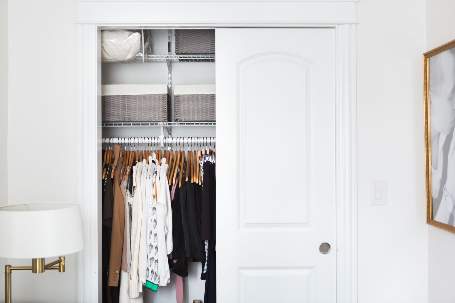 10 affordable easy ways to add lighting to a closet without wiring apartment therapy. Black Bedroom Furniture Sets. Home Design Ideas