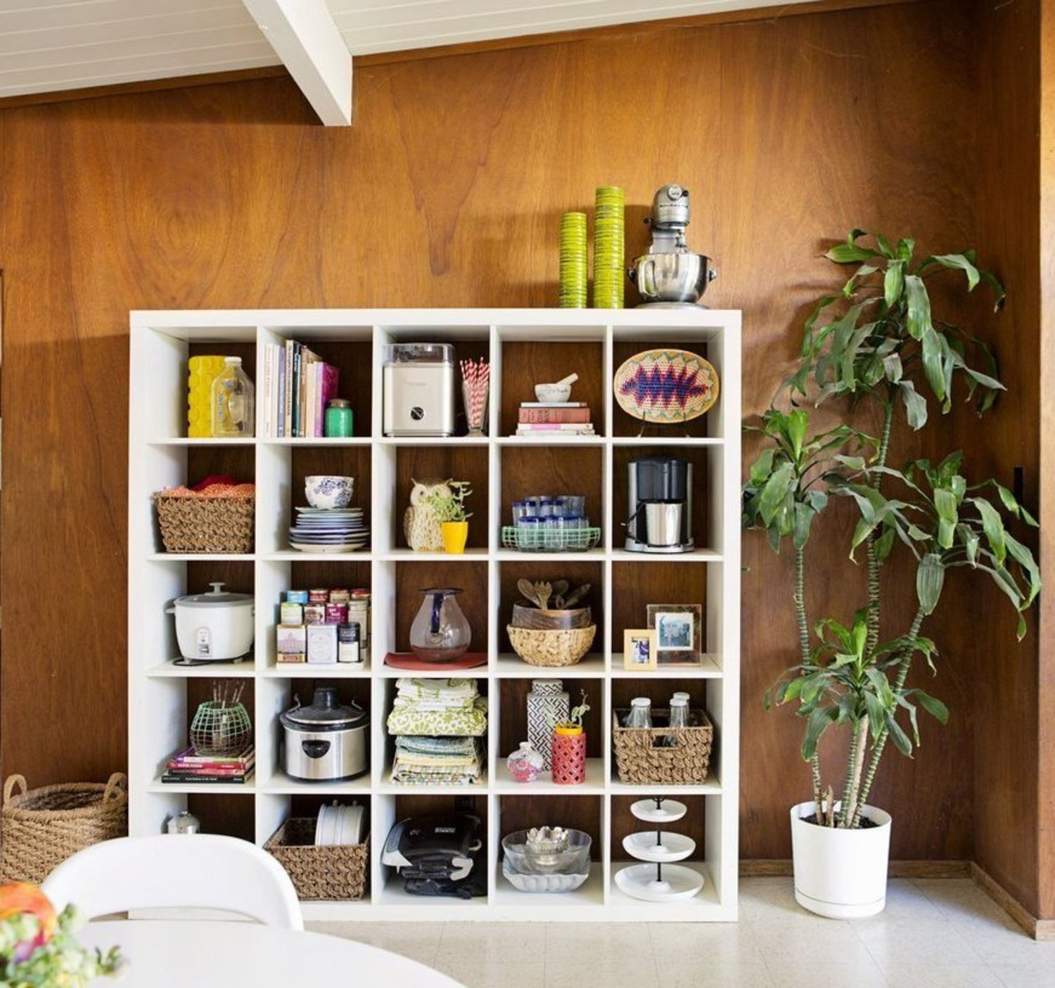 Ikea Expedit Kitchen: The IKEA Expedit Bookshelf Makes A Great Kitchen Cubby