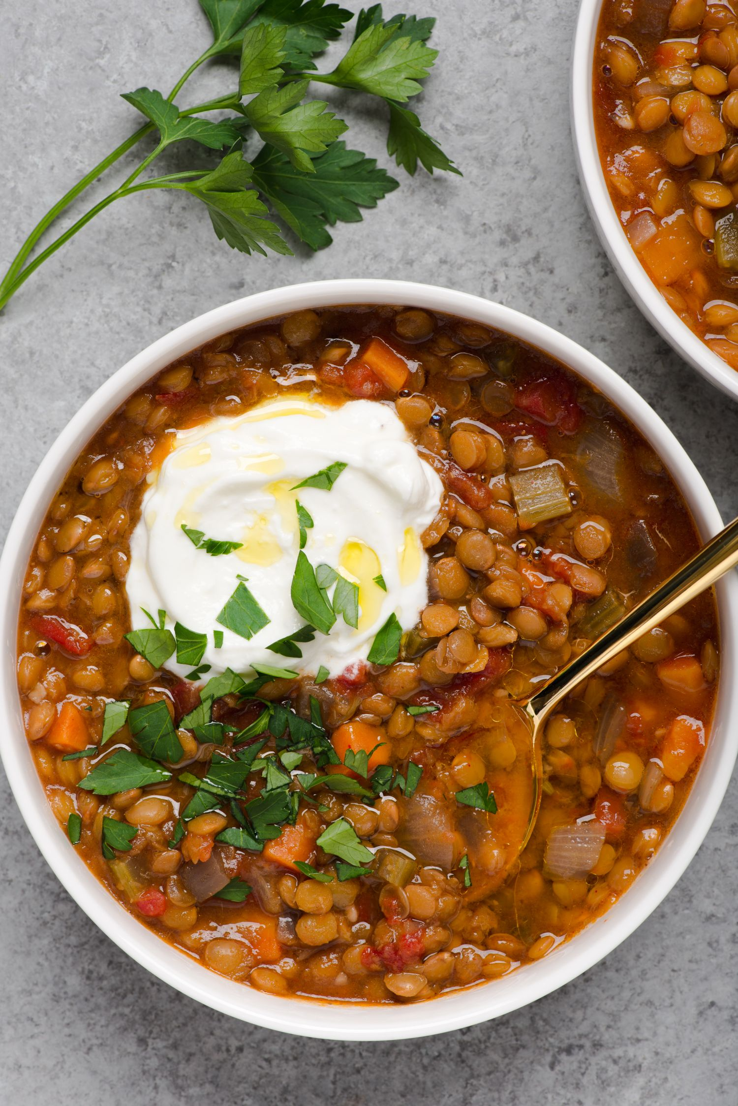 An Easy Slow Cooker Lentil Soup That Simmers for 8 Hours