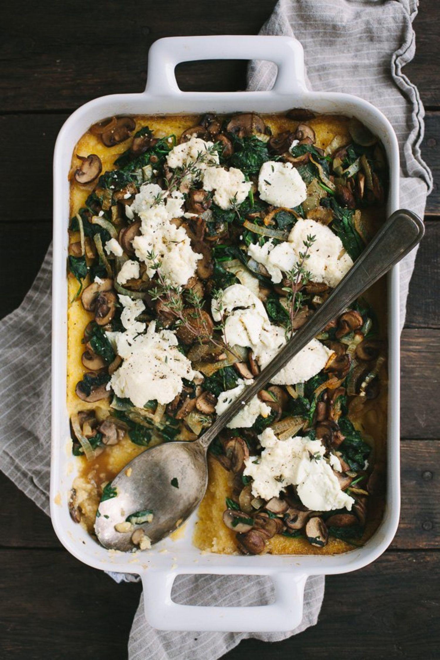 Make This Vegetarian Polenta Bake for Dinner & Eat the Leftovers for Brunch