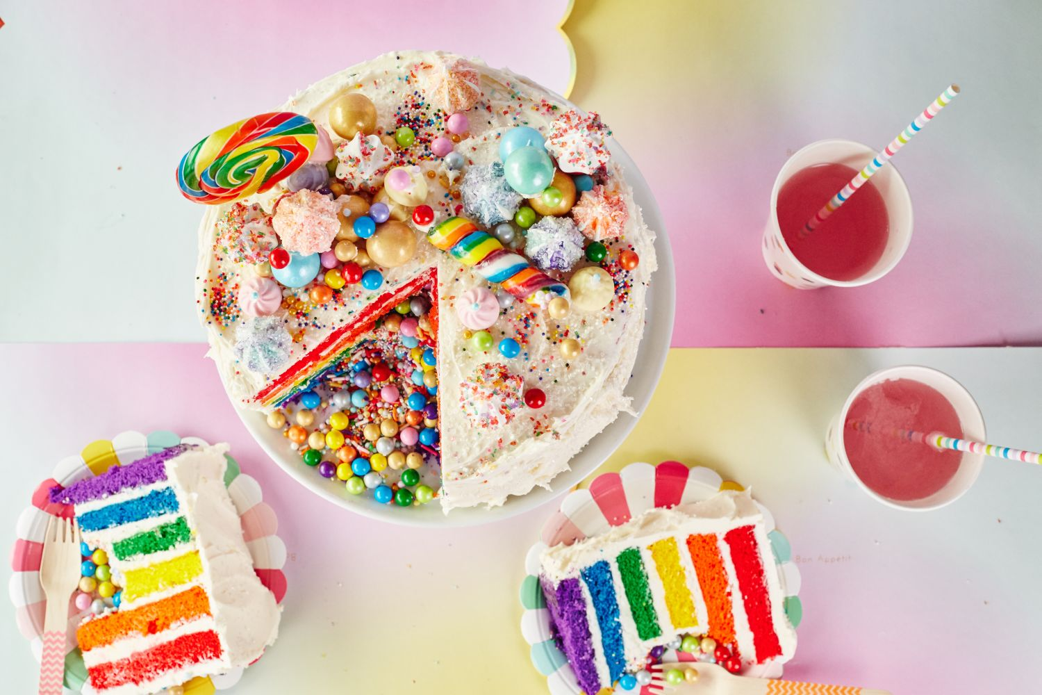 Rainbow Cake Recipe Joy Of Baking: How To Make A Rainbow Layer Cake With A Candy Surprise
