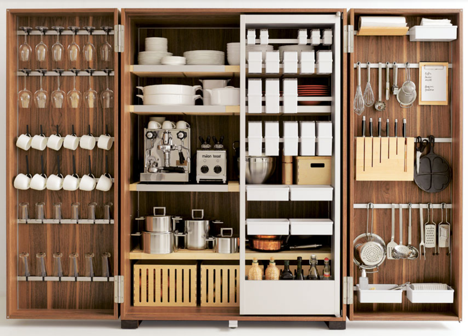unique kitchen storage we re totally in awe of bulthaup s custom kitchen storage 3059