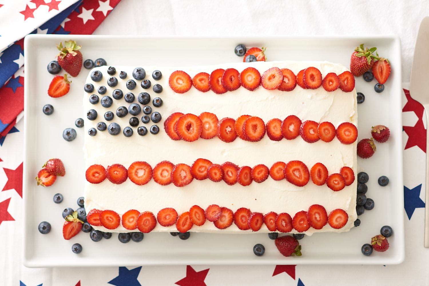 A Surprise-Inside Fourth of July Flag Cake