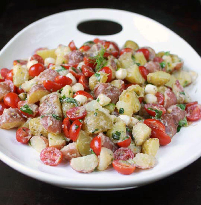 Recipe: Tomato & Mozzarella Potato Salad with Lemon-Buttermilk Dressing