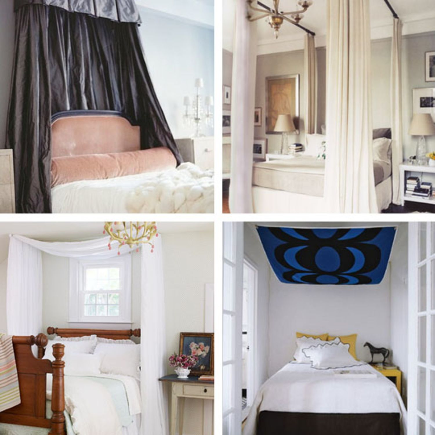 Cheap New Beds: DIY Ideas For Getting The Look Of A Canopy Bed Without