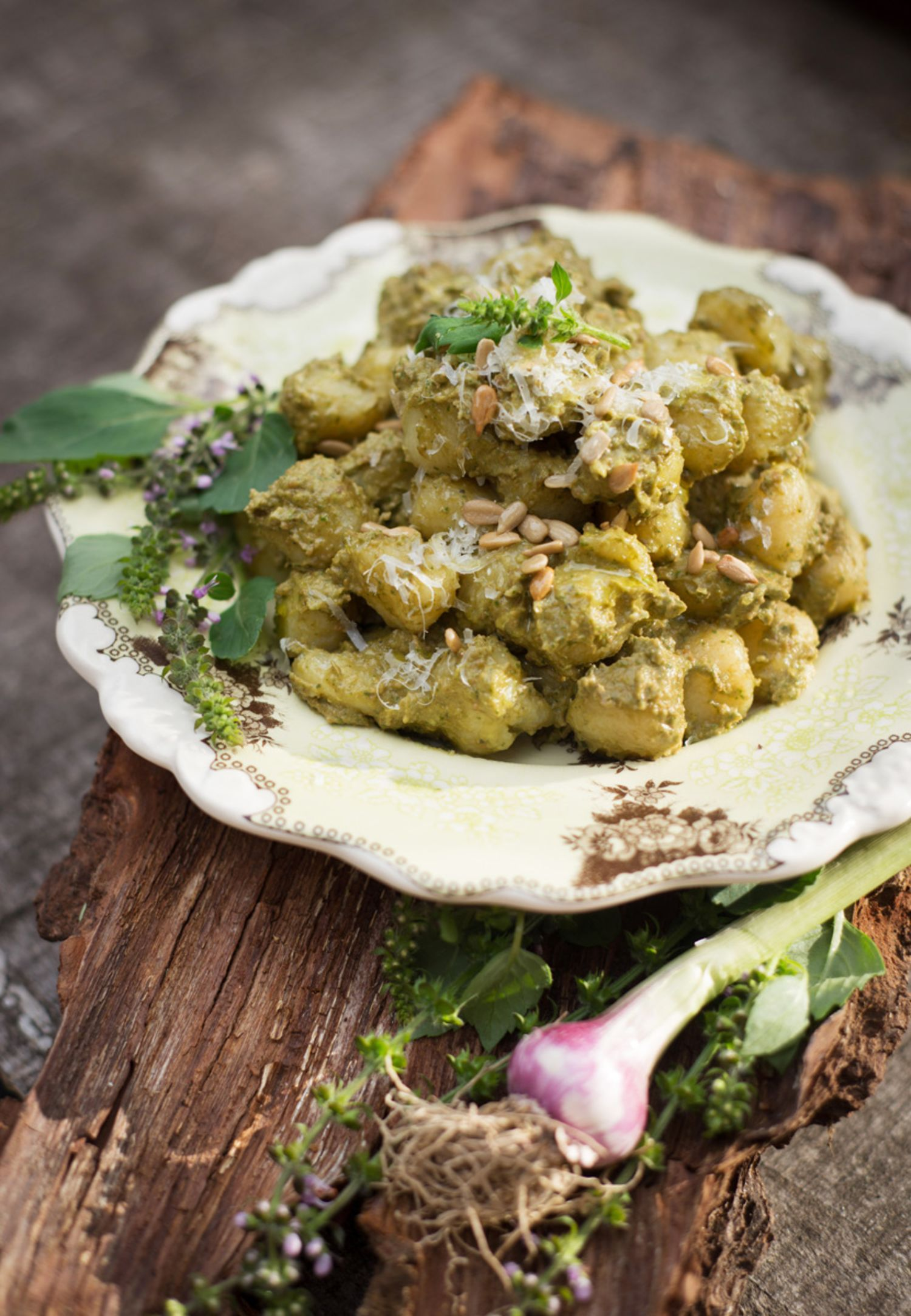 Recipe: Creamy Green Garlic & Avocado Pesto Over Gnocchi