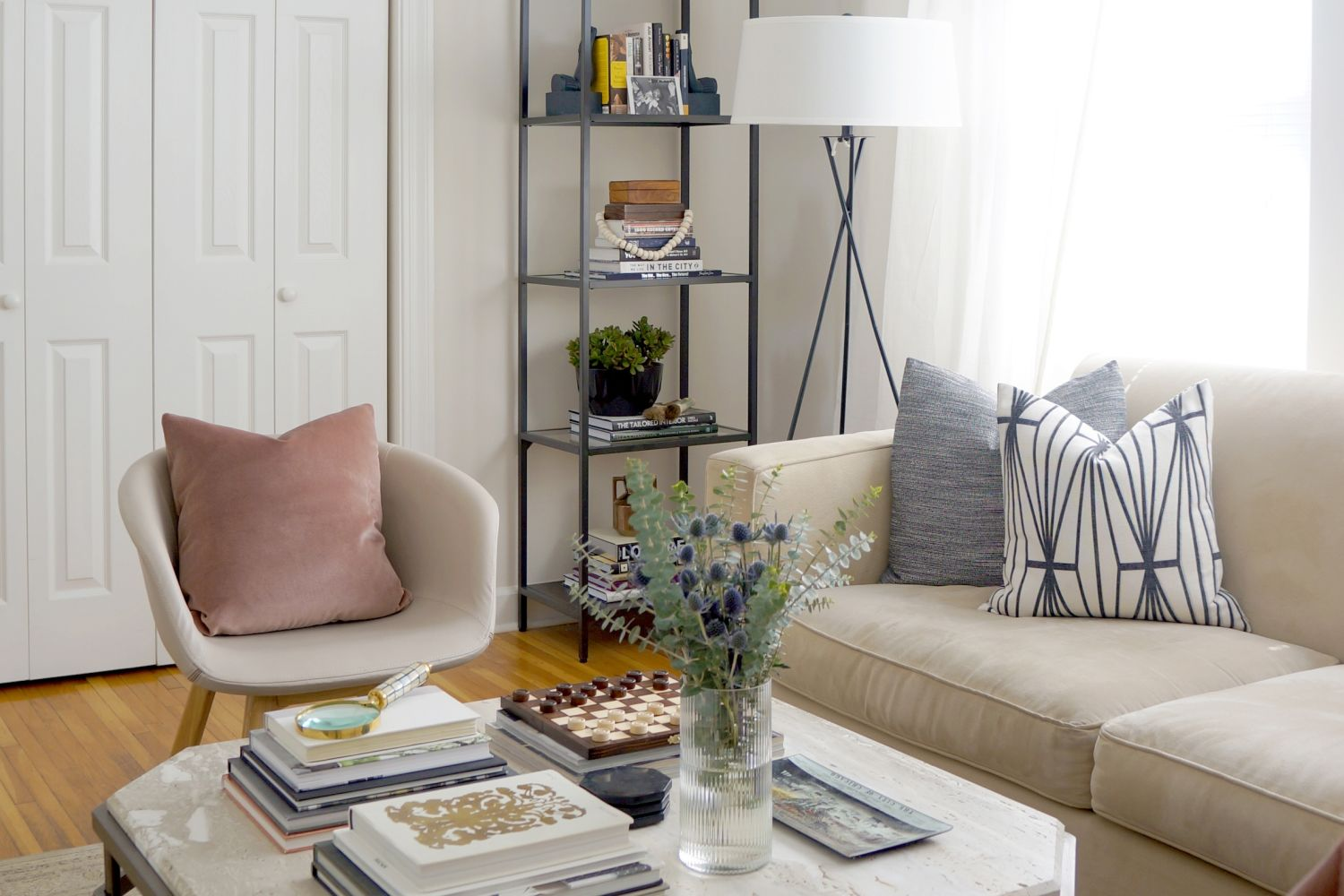 House Tour: A Small Boho-Luxe Chicago Apartment