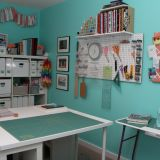 "Jessica's ""Beachy Craft Space"" Room — Room for Color 2014"